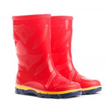 Резиновые сапоги детские красные Для девочки   Размер 27-35  