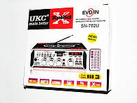 Усилитель Звука UKC SN-702U FM USB 2x300 Вт, фото 1