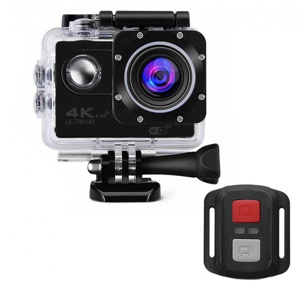 "Sale! Экшн-камера Lesko F60R Black LCD 2"" Waterproof кейс 4K Ultra HD Wi Fi 900 mAh пульт"