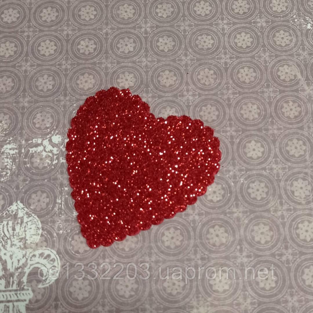 Декор серце 5,5 см