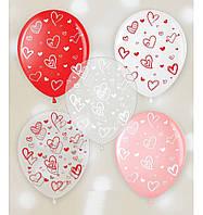"""Кульки повітряні з малюнком ГЕЛІЄМ поштучно """"Найкраща жінка"""" 12"""" (30см) (асорті)"""