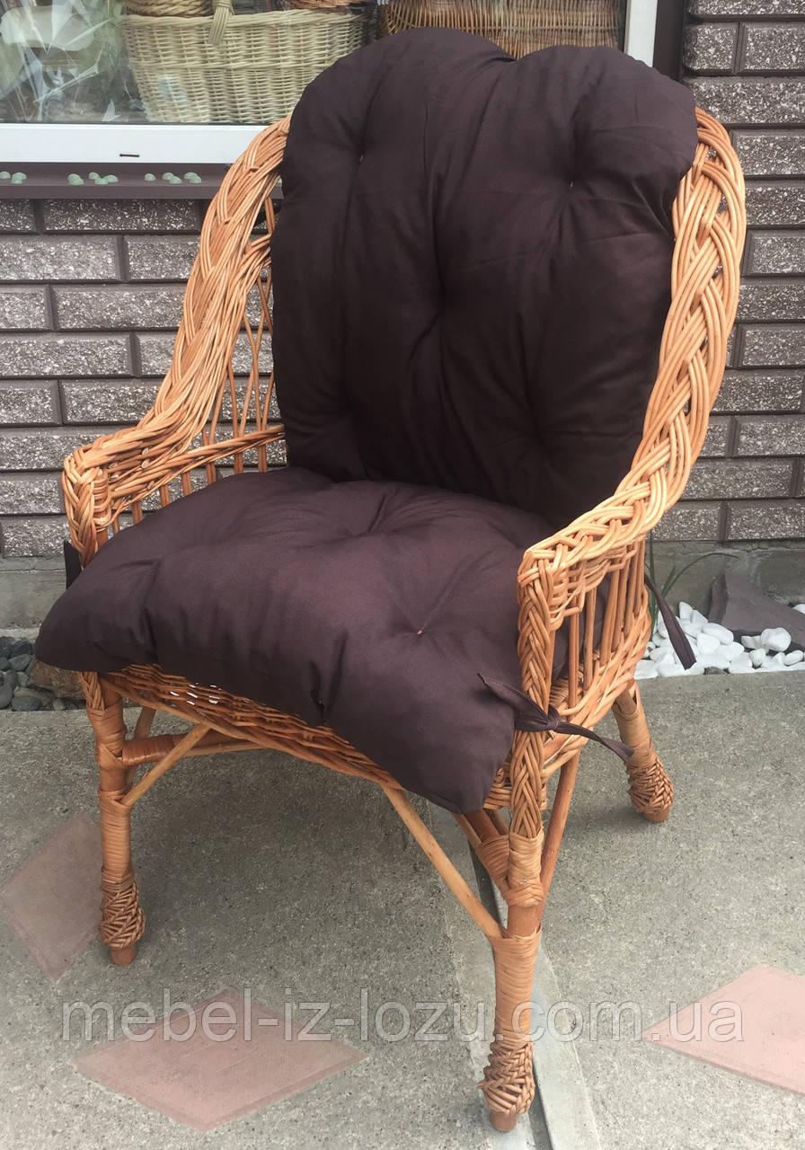 """Кресло """"Х. №1"""" с коричневой подушкой"""