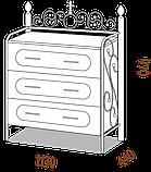 Комод метдиз 50. Разные размеры и раскраски., фото 2