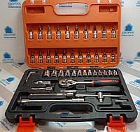 Набір інструментів головок і біт LTL10088 у пластиковому кейсі, фото 1