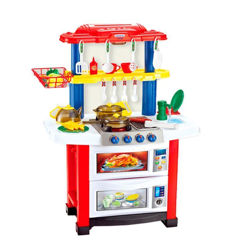 Кухня дитяча 768 А / В 2 кольори, світло-звук, тече вода, посудка