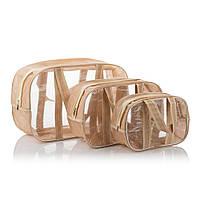 Набор из 3х комбинированных сумок ПВХ+спанбонд (S,M,L) Nika Torrі