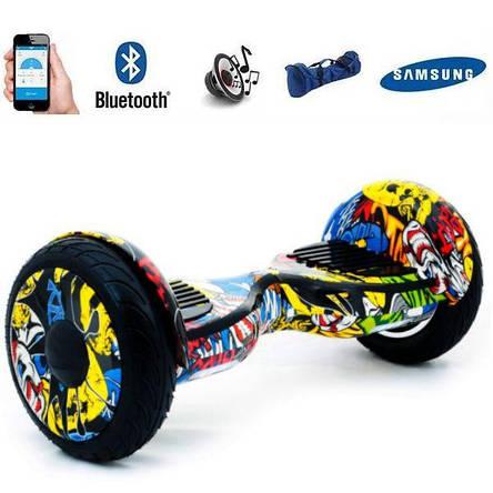 Гироборд гироскутер гіроборд гіроскутер Smart Balance колеса 10.5 дюймов Желтый Хип-Хоп, фото 2