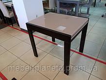 Стол кухонный со стеклом раскладной Слайдер 815  (Fusion Furniture)