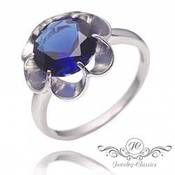 Серебряное кольцо с большим фианитом арт. Р1297