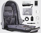 Рюкзак Bobby Боббі з захистом від кишенькових злодіїв протикрадій USB роз'єм, фото 7