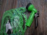 Шланг для полива X HOSE 30 м с распылителем, садовый шланг, поливочный шланг для сада ЗЕЛЕНЫЙ, фото 7