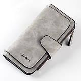 Жіночий клатч Baellerry Forever, жіночий портмоне, жіночий гаманець СІРИЙ, фото 6