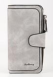 Женский клатч Baellerry Forever, женский портмоне, женский кошелек СЕРЫЙ, фото 7