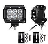 Фара LED (6 LED) 5D-18W-SPOT Світлодіодна додаткова автомобільна автофара на дах противотуманки, фото 2