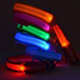 Ошейник LED светящийся узкий для небольших собак и кошек 0.5 м СИНИЙ, фото 4
