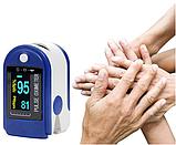 Пульсоксиметр AD-805 на палець, Вимірювач пульсу, Пульсометр компактний, бездротовий Пульсоксиметр, фото 3