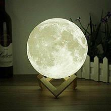 Нічник 3D світильник місяць Moon Touch Control 15 см, 5 режимів