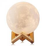 Нічник 3D світильник місяць Moon Touch Control 15 см, 5 режимів, фото 3