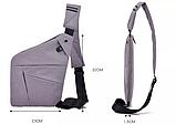 Мужская сумка через плечо, мессенджер Cross Body, фото 4