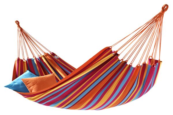 Гамак гавайский для отдыха из хлопка 200*80 СМ Orange
