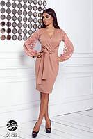 Элегантное нарядное платье на запах с объемными рукавами с 42 по 48 размер, фото 4