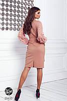 Элегантное нарядное платье на запах с объемными рукавами с 42 по 48 размер, фото 6