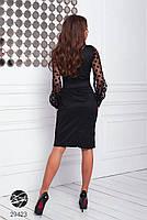 Элегантное нарядное платье на запах с объемными рукавами с 42 по 48 размер, фото 7