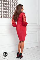 Элегантное нарядное платье на запах с объемными рукавами с 42 по 48 размер, фото 8