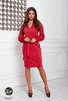 Элегантное нарядное платье на запах с объемными рукавами с 42 по 48 размер, фото 9