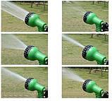 Шланг для полива X HOSE 15 м с распылителем, садовый шланг, поливочный шланг для сада ЗЕЛЕНЫЙ, фото 7