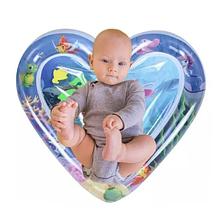 """Водний килимок для дітей """"Серце"""", що розвиває надувний акваковрик і для немовляти"""