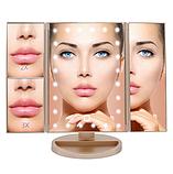 Багатофункціональний Дзеркало для макіяжу з LED підсвічуванням прямокутне потрійне. Краща Ціна!, фото 2