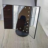 Багатофункціональний Дзеркало для макіяжу з LED підсвічуванням прямокутне потрійне. Краща Ціна!, фото 8