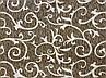"""Комплект постельного белья Поликоттон семейный """"Вензеля"""" коричневый, фото 2"""