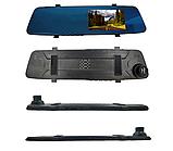 Автомобільне дзеркало відеореєстратор для авто на 2 камери VEHICLE BLACKBOX DVR 1080p камерою заднього виду., фото 2