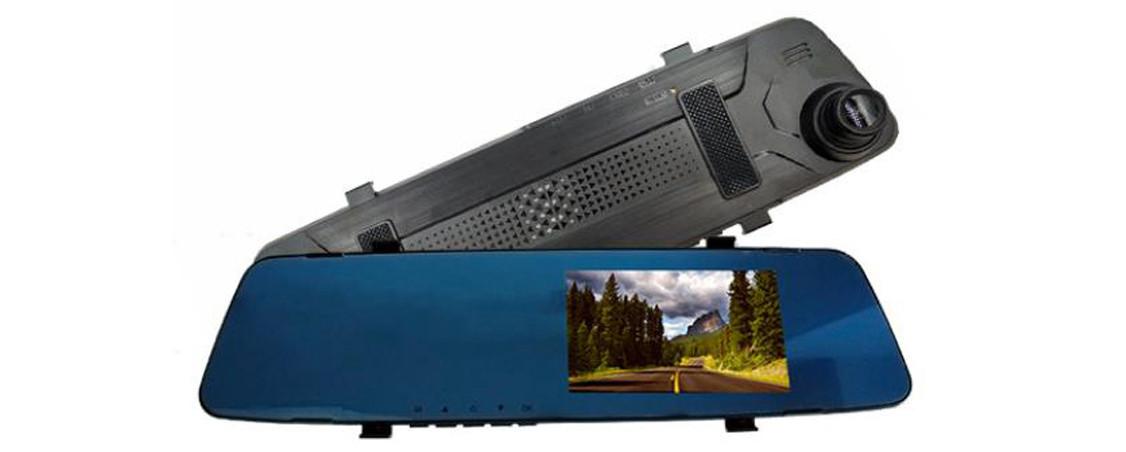 Автомобільне дзеркало відеореєстратор для авто на 2 камери VEHICLE BLACKBOX DVR 1080p камерою заднього виду.