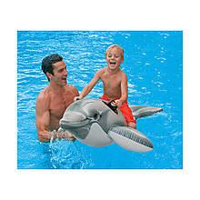 Дитячий надувний пліт Intex 58535 Дельфін, 175 х 66 см