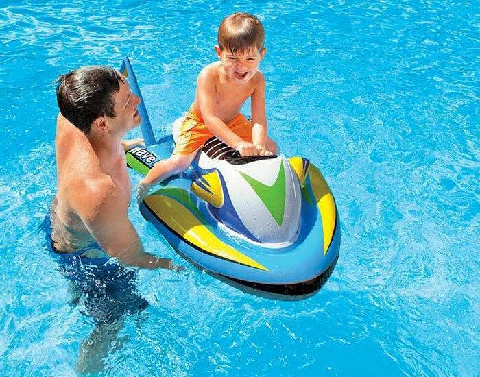 Дитячий надувний пліт для катання Intex 57520 «Скутер», 117 х 77 см