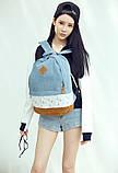 Стильний Рюкзак Міський Lace Jeans, фото 2