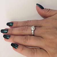 Серебряное кольцо с жемчугом Динара, фото 1