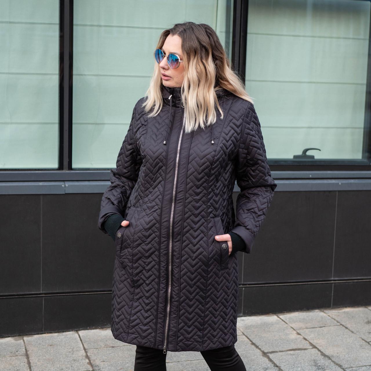 Куртки женские демисезонные больших размеров   54-60  сливовый