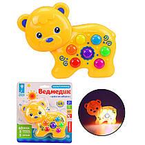 Музична розвиваюча іграшка для малюків Ведмедик, звуки, віршики, пісні, на українському PL-719-86