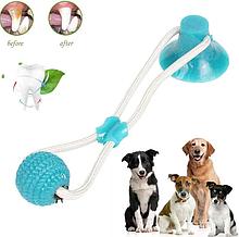 Іграшка для домашніх тварин, М'яч на мотузці з присоском