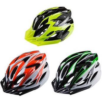 Велошлем защитный, регулировка размера, цвета в ассортименте.