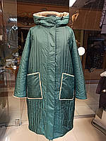 Новинка зима 2020-2021, женская зимняя куртка, пальто , пуховик Mishele 21120 больших размеров 56, 58, 60, 62, фото 1
