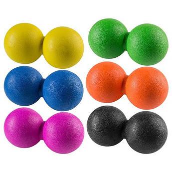 Мяч массажный, двойной, TPR,  12х6см.