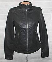 """Куртка жіноча кожзам коротка, комір-стійка, розміри S-2XL """"LANMAS"""" купити недорого від прямого постачальника"""
