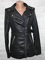 """Куртка-косуха жіноча кожзам, комір-відкладний, розміри S-2XL (2цв) """"LANMAS"""" недорого від прямого постачальника"""