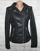 """Куртка-косуха жіноча кожзам, комір-відкладний, розміри S-2XL """"LANMAS"""" купити недорого від прямого постачальника"""