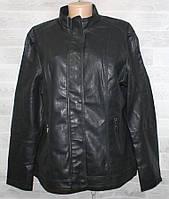 """Куртка жіноча кожзам батальна, комір-стійка, розміри 56-64 """"LANMAS"""" недорого від прямого постачальника"""